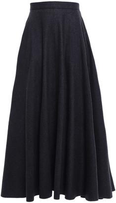 Nina Ricci Flared Wool-blend Felt Maxi Skirt