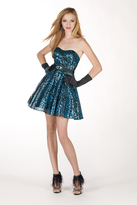 Alyce Paris B'Dazzle - 35489 Dress in Turquoise Black