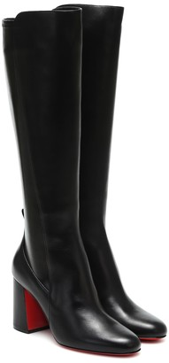 Christian Louboutin Kronobotte knee-high leather boots