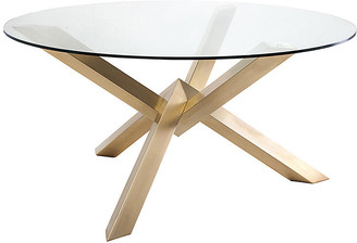 "One Kings Lane Costa 60"" Dining Table - Clear/Gold"