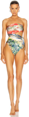 Zimmermann Juliette Scarf Swimsuit in Spliced | FWRD