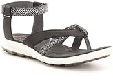 Ecco Women 's Cruise Sport Webbing Leather Ankle Strap Sandals