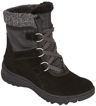 Yuu Womens Abalee Water Resistant Winter Boots Block Heel