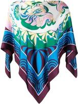 Emilio Pucci asymmetric draped blouse