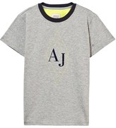 Armani Junior Grey AJ Branded Tee