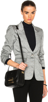 Smythe Peaked Lapel Inverted Pleat Pocket Blazer