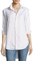 Frank And Eileen Grayson High-Low Button-Down Shirt, Pink