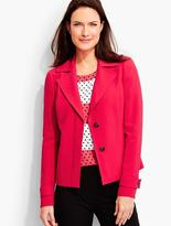 Talbots Polished Crepe Notched-Collar Jacket