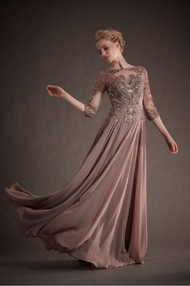 Park 108 New York Beaded Tulle Chiffon Gown