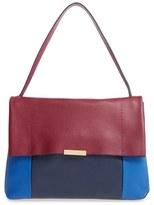 Ted Baker 'Proter' Pebbled Leather Shoulder Bag - Red