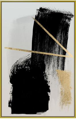 Jonathan Bass Studio Brush Strokes And Gold Gold Leaf