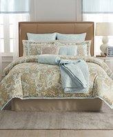 Martha Stewart Collection Madeleine Rose 22-Pc. Queen Comforter Set Bedding