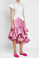 Marques Almeida Marques' Almeida Ruffled Asymmetric Skirt with Cotton