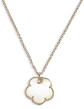 Pasquale Bruni 18K Rose Gold Petit Joli White Agate and Diamond Pendant Necklace, 16.75