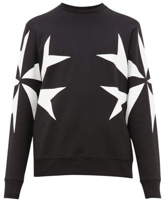 Neil Barrett Maltese Cross Print Sweatshirt - Mens - Black White