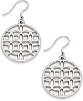 Charter Club Silver-Tone Round Filigree Drop Earrings, Only at Macy's