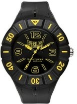 Everlast 33-217 Unisex Quartz Watch with Black Dial Analogue Display and Black Plastic or PU Strap EV-217-003