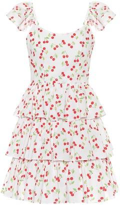 Caroline Constas Keros printed cotton minidress