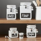 Crate & Barrel Clamp Canisters with Chalkboard
