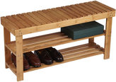 Household Essentials 2-Shelf Bamboo Storage Bench