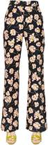 Rochas Magnolia Printed Cotton Duchesse Pants
