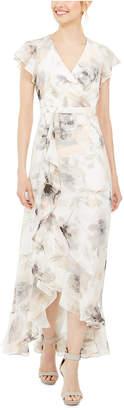 Calvin Klein Printed Chiffon Gown
