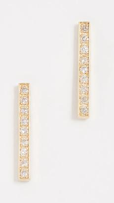 Jennifer Meyer 18k Gold Bar Diamond Stud Earrings
