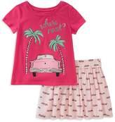 Kate Spade Girls' Where Next Road Trip Tee & Skirt Set - Baby