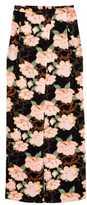 H&M Wide-leg Satin Pants - Black floral - Ladies