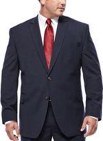 STAFFORD Stafford Travel Stretch Navy Pinstripe Jacket - Big & Tall