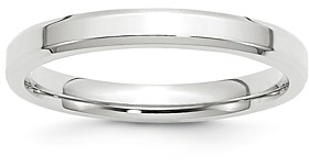 Bloomingdale's Men's 3mm Bevel Edge Comfort Fit Band in 14K White Gold - 100% Exclusive