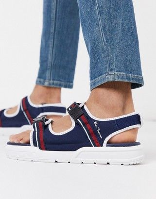 Ben Sherman chunky sandal in navy
