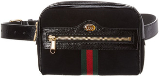 Gucci Ophidia Small Suede & Leather Belt Bag