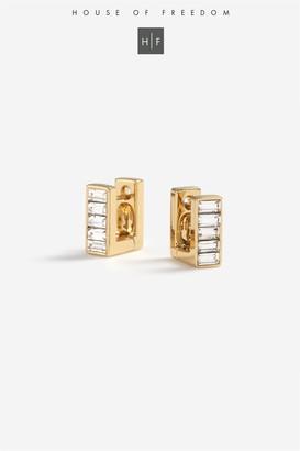 Topshop Crystal Stone Earrings