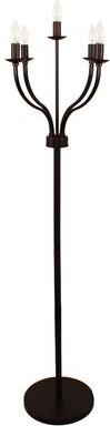 """Charlton Homeâ® Dunnstown Industrial 61.42"""" Candelabra Floor Lamp Charlton HomeA"""
