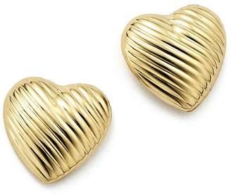 Bloomingdale's 14K Yellow Gold Medium Heart Stud Earrings - 100% Exclusive