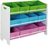 HDS Trading 9-Bin Storage Shelf