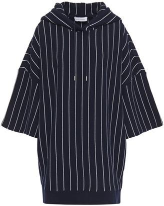 Ninety Percent Striped Organic Cotton Hooded Mini Dress