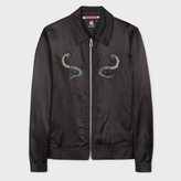 Paul Smith Men's Black Rayon And Cotton-Blend Blouson Jacket With Embroidery Detail