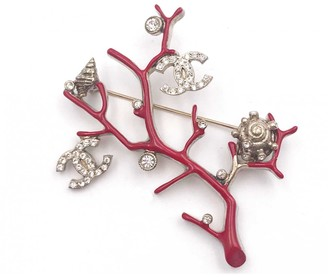 Chanel Red Metal Pins & brooches