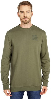 Herschel Crew Neck (Dusty Olive/Dusty Olive) Men's Clothing