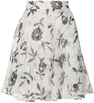 Versace Pre-Owned floral flared skirt