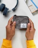 Asos Zip Around Wallet In Black Camo