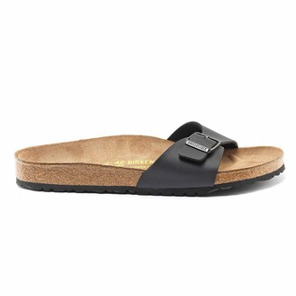 Birkenstock Madrid Faux Leather Flat Sliders