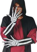 Fun World Costumes Elbow Length Skeleton Gloves for Adults