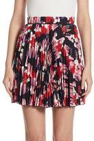Marc Jacobs Geo Spot Pleated Silk Skirt