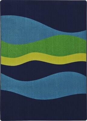 """Joy Carpets Flow Navy Kids Rug Rug Size: 5'4"""" x 7'8"""""""