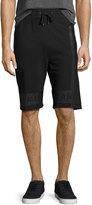 Helmut Lang Brushstroke Logo Track Shorts, Black