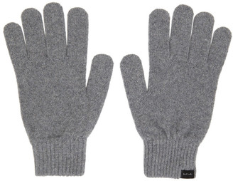 Paul Smith Grey Cashmere Gloves
