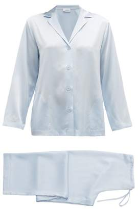 La Perla Silk-satin Pyjamas - Womens - Blue